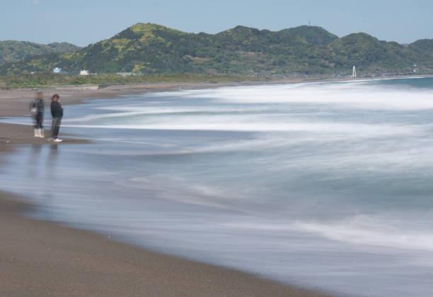 Mishima Beach at Boso Peninsula in Chiba prefecture stock photo