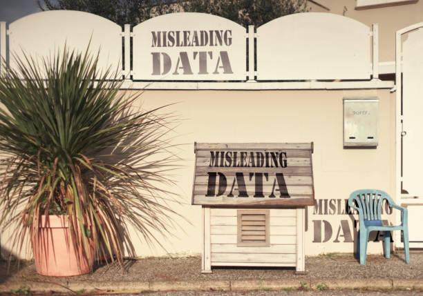 misleading data stock photo