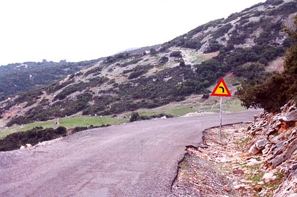 Misleading Road Sign stock photo