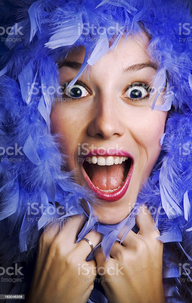 Miss Blue royalty-free stock photo
