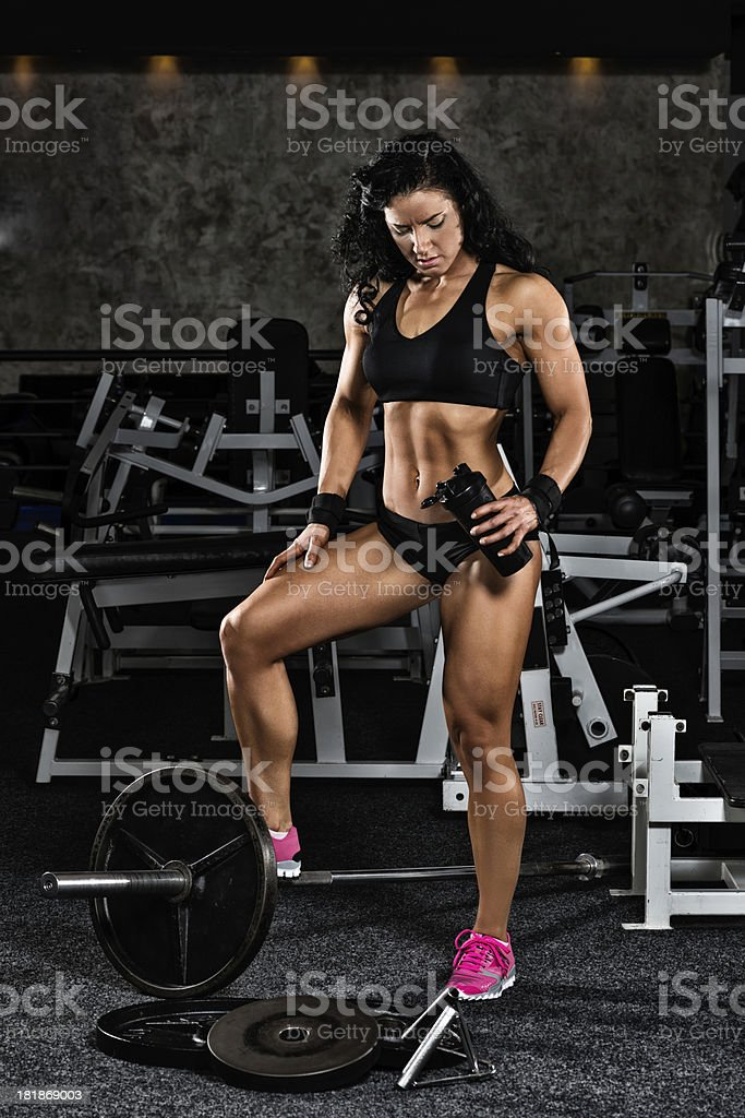 Miss Fitness royalty-free stock photo