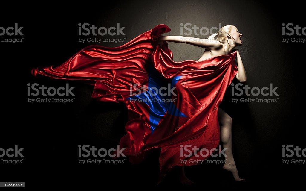 Miss Freedom royalty-free stock photo