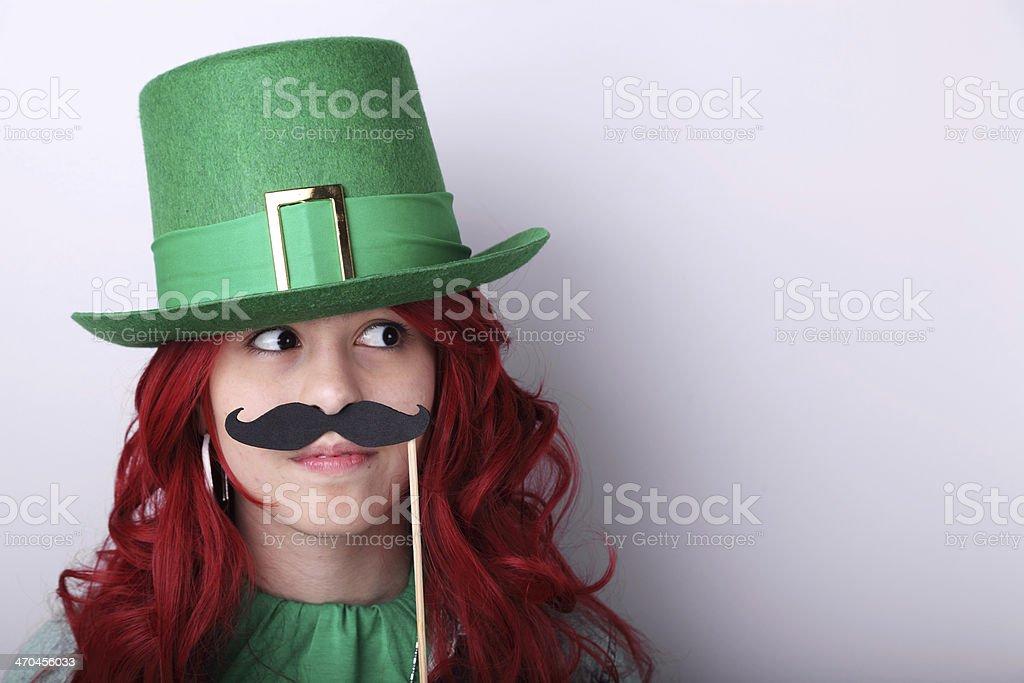 Miss Leprechaun royalty-free stock photo