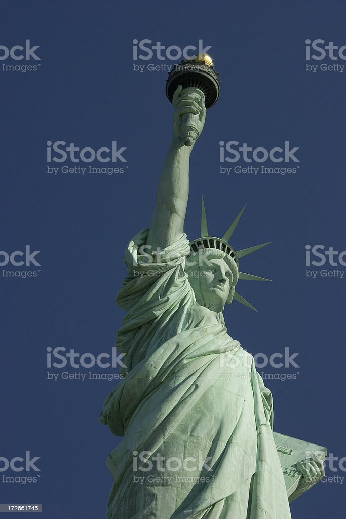 Miss liberty statue, New York royalty-free stock photo
