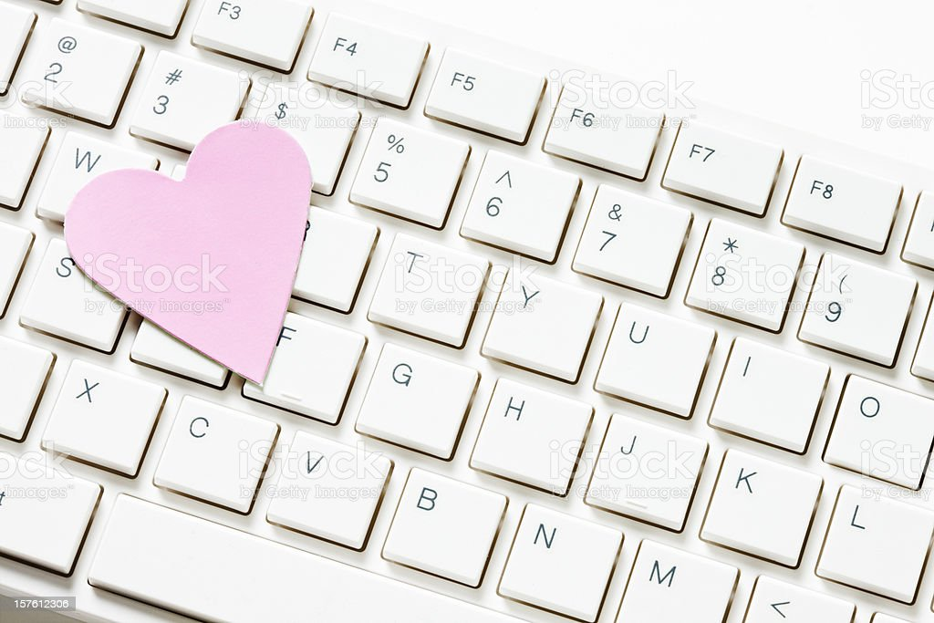 Miss lonely heart looking for love online royalty-free stock photo