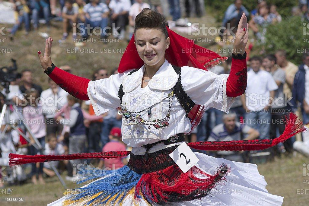 Miss Mountain in Albania stock photo