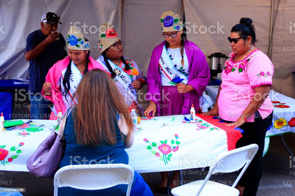 Miss Pascua Yaqui Tribe Native America Women At The Tucson Meet Yourself Folklife Festival Stock Photo Download Image Now Istock