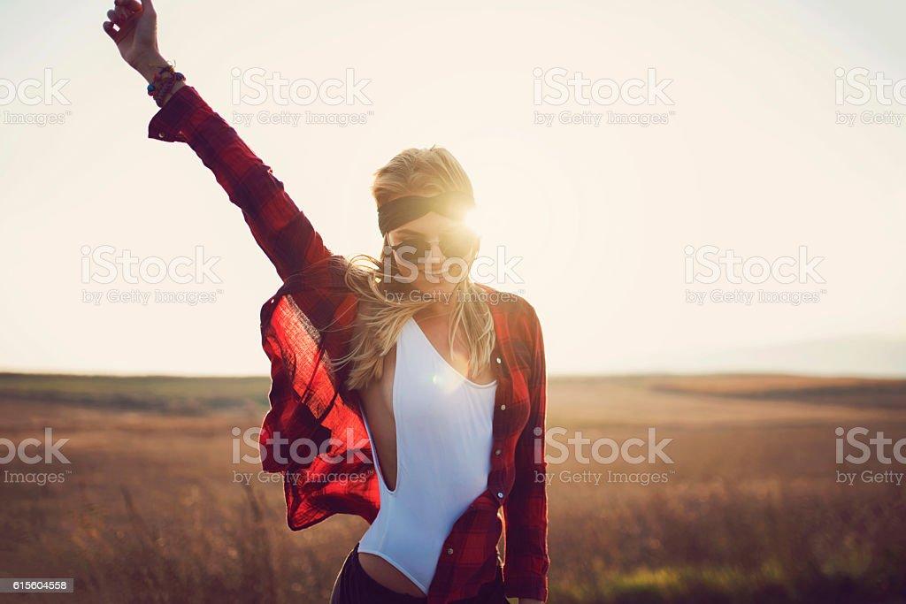 Miss Sunshine stock photo