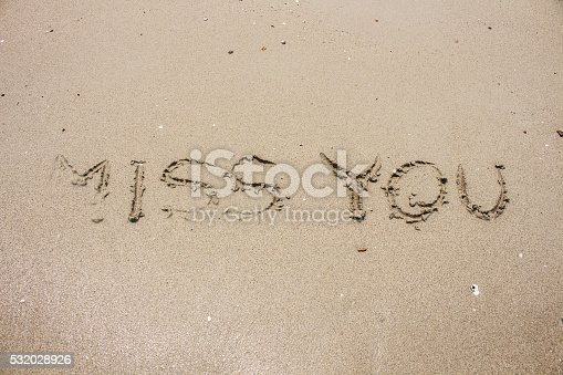 miss you on sand, picture concept and idea