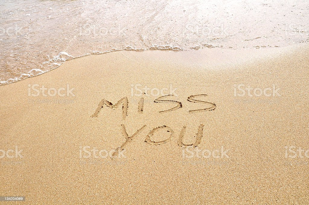 Miss you stock photo