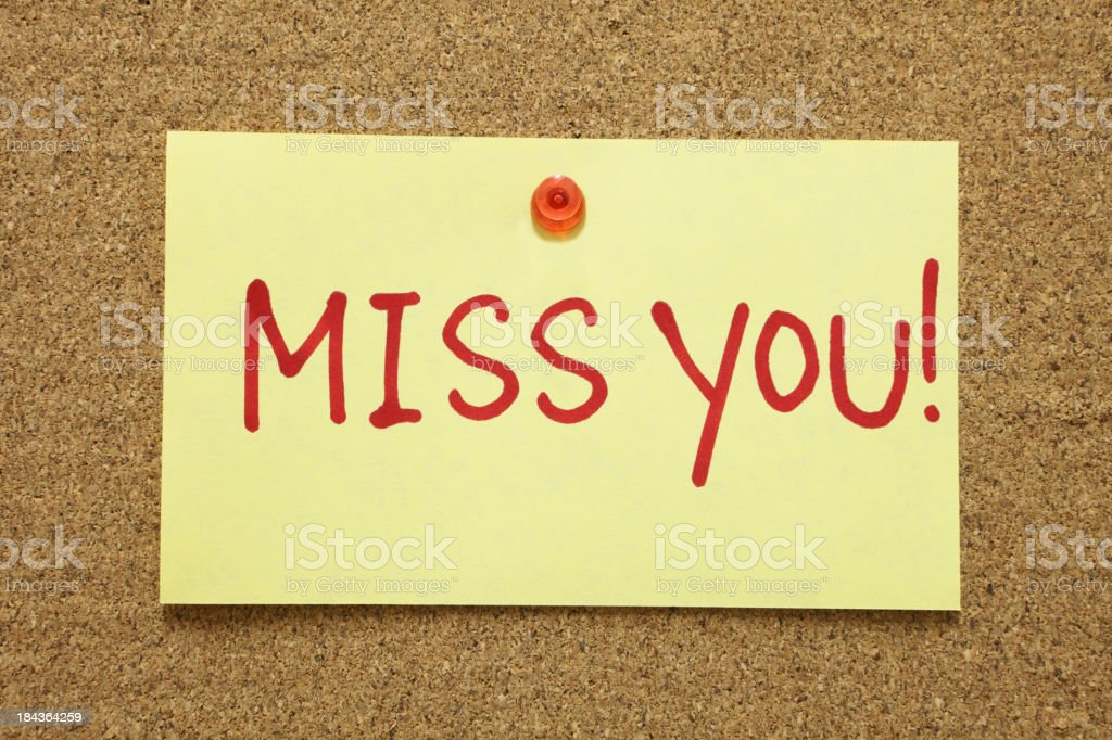 Miss You royalty-free stock photo