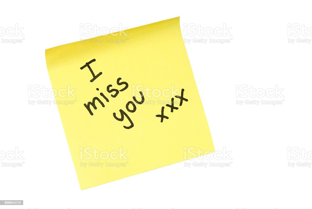 I miss you! royalty-free stock photo