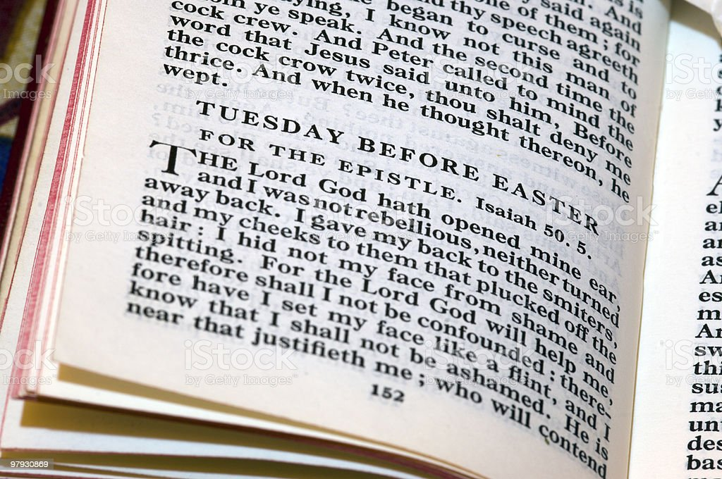 Missal book - Tuesday before Easter royalty-free stock photo