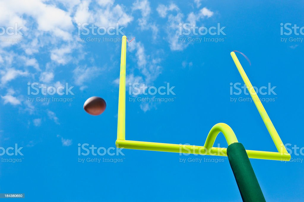 Missed Field Goal - American Football royalty-free stock photo