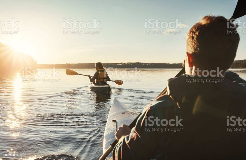 I missed kayaking with her stock photo