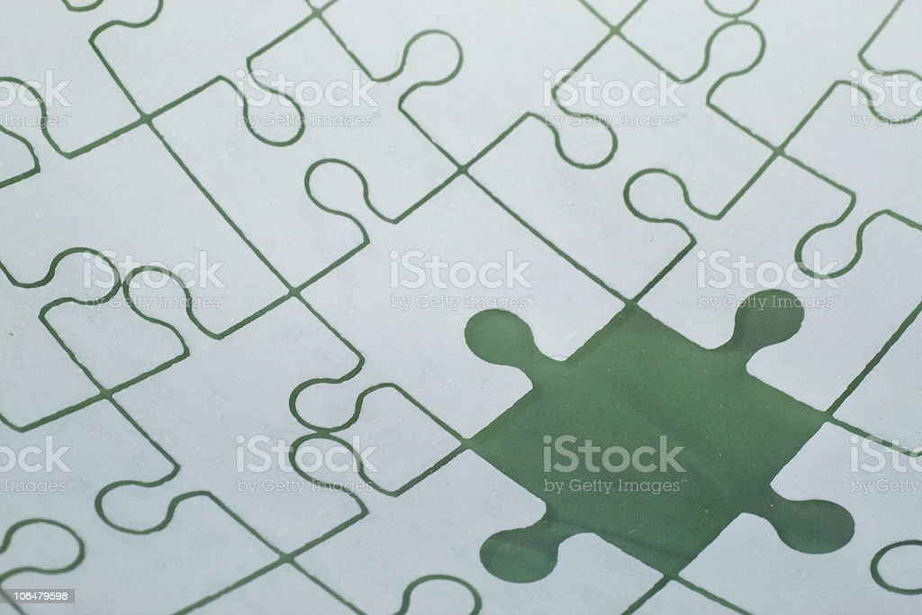 Missed puzzle piece royalty-free stock photo