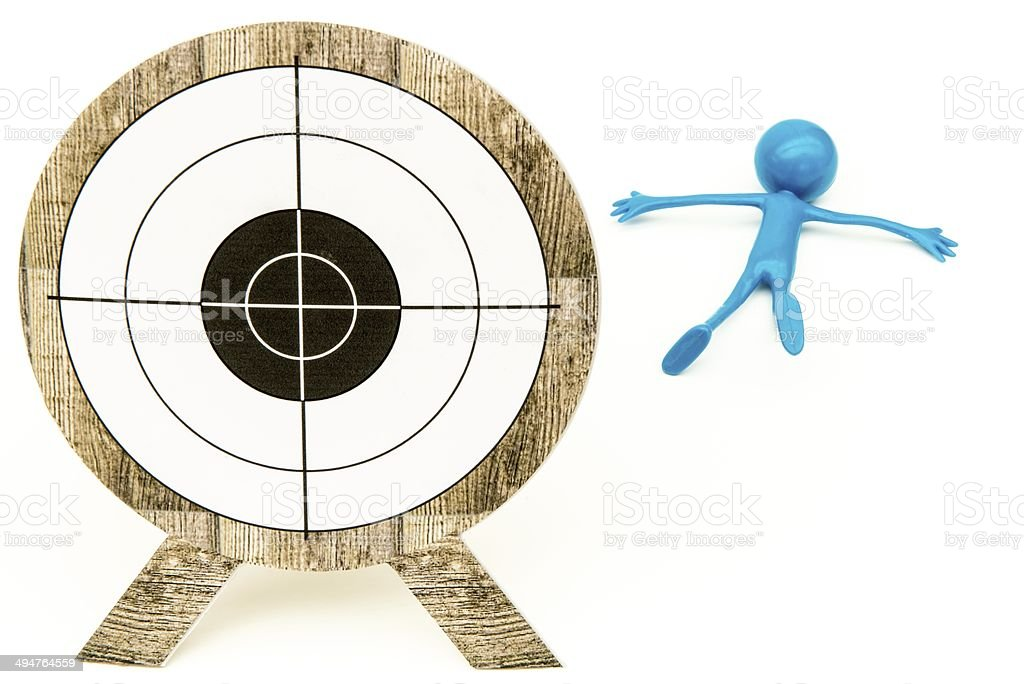 Missed the target - Blue stock photo