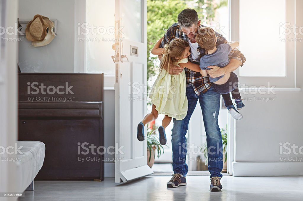 I missed you guys so much! stock photo