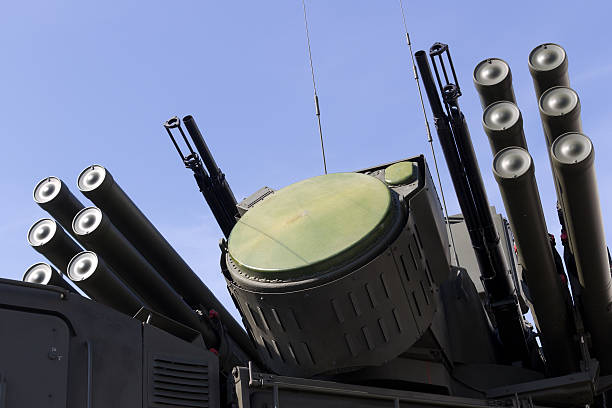 Rakete und anti-aircraft Waffe system – Foto