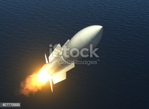 istock Missile Launch On The High Seas 627770000