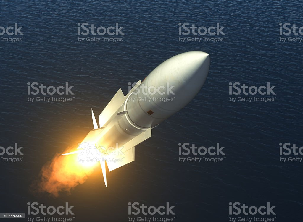 Missile Launch On The High Seas – Foto