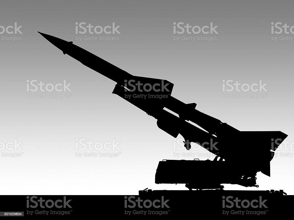 missile launcher illustration stock photo