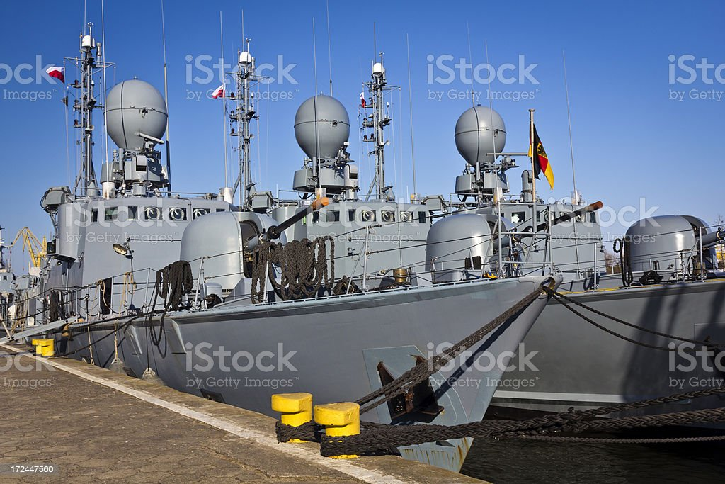 Missile military ships stock photo