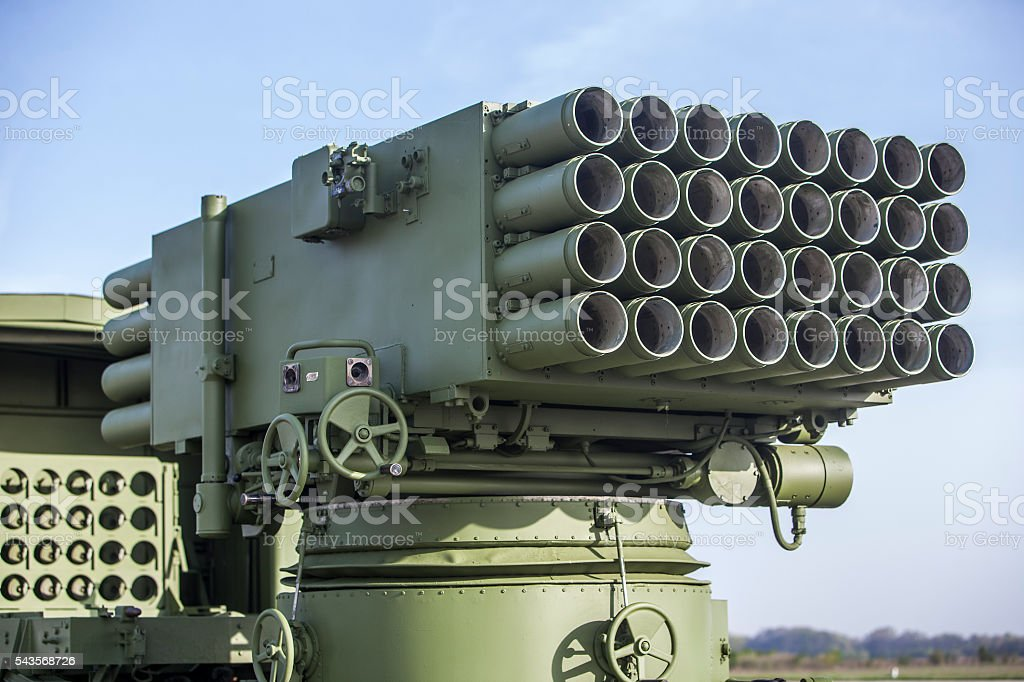Missile system stock photo