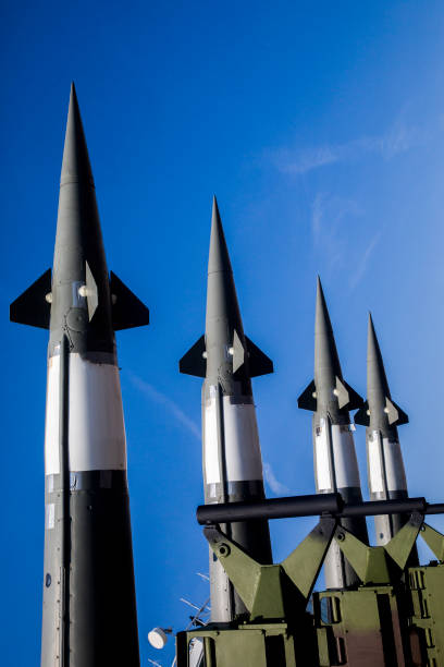 Missile system Ballistic missile launcher antiaircraft stock pictures, royalty-free photos & images