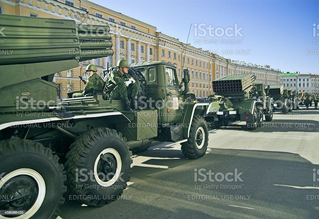 Missile vehicles stock photo