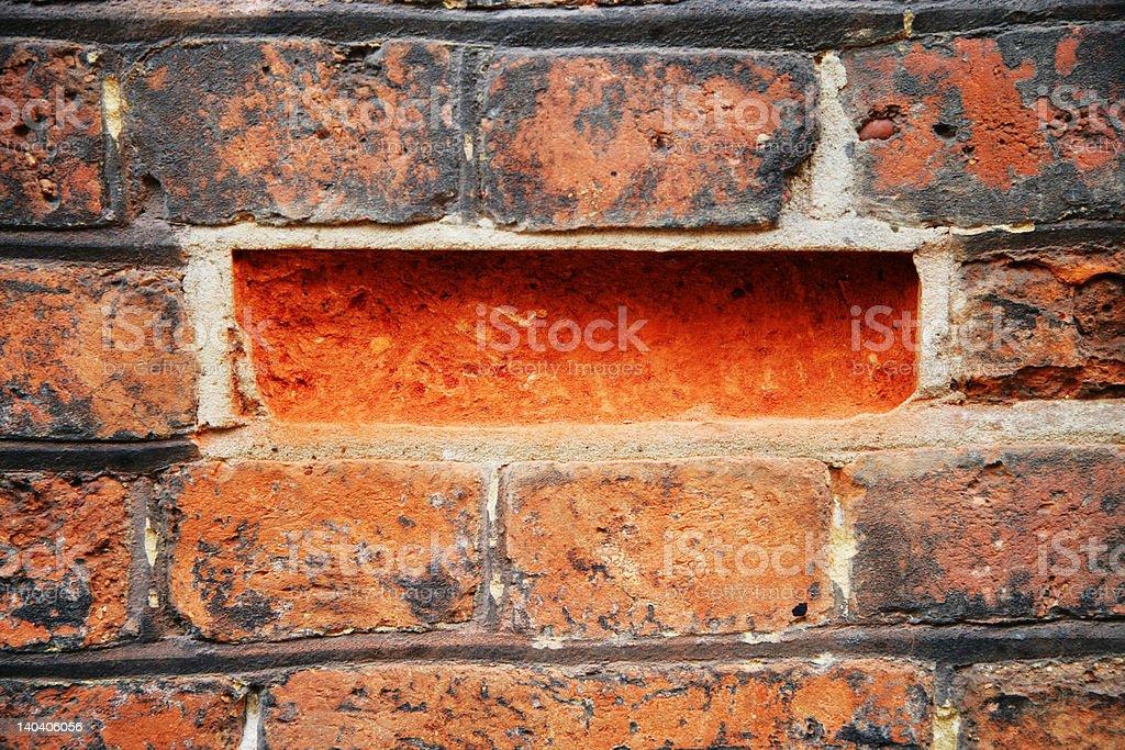 Missing brick royalty-free stock photo