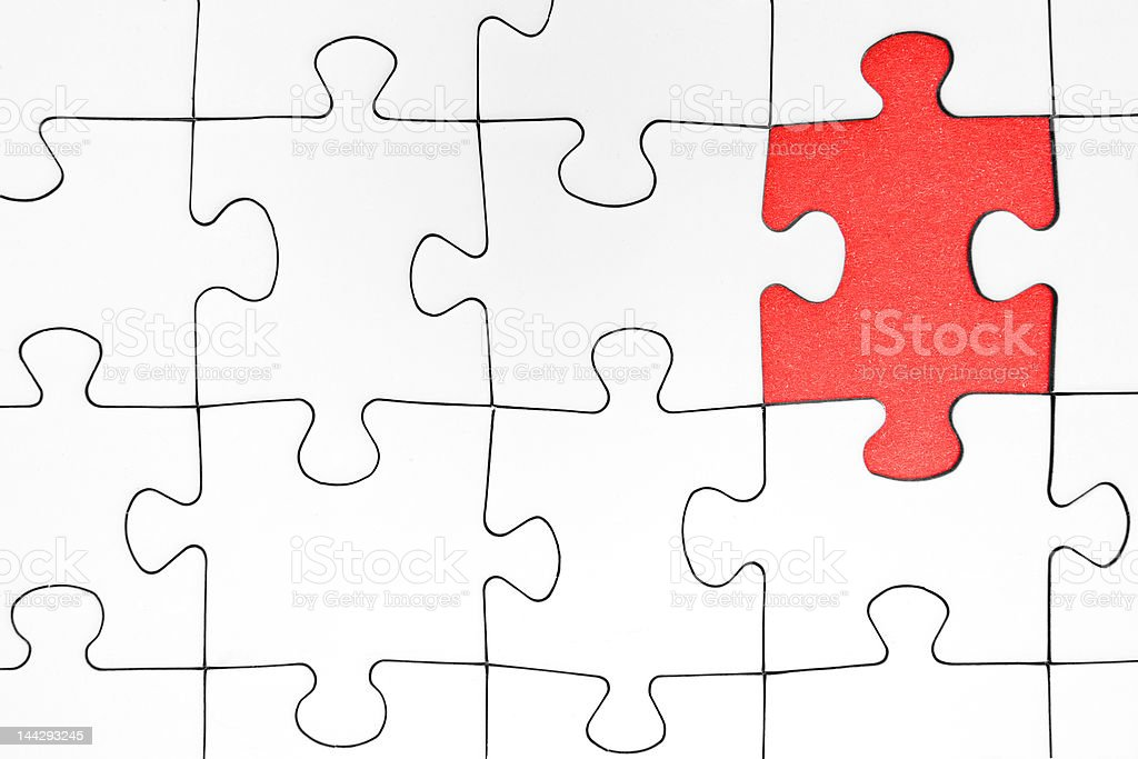 Missing Jigsaw Piece royalty-free stock photo