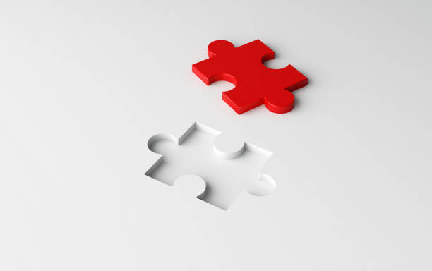 Missing jigsaw puzzle pieces in unfinished work, strategy and solution business concept. White pattern texture background. 3d illustration Missing jigsaw puzzle pieces in unfinished work, strategy and solution business concept. White pattern texture background. 3d illustration incomplete stock pictures, royalty-free photos & images