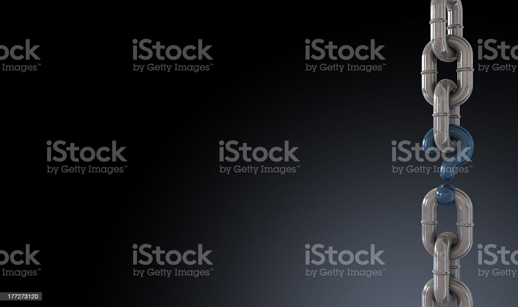 Missing Link Clean royalty-free stock photo