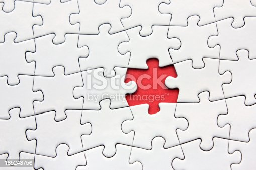 A jigsaw puzzle without the missing piece.