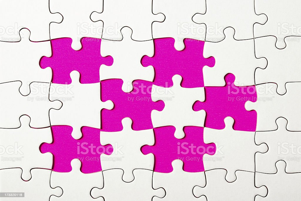 Missing pieces of puzzle royalty-free stock photo
