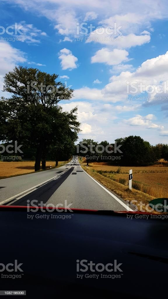Countryside road Germany.