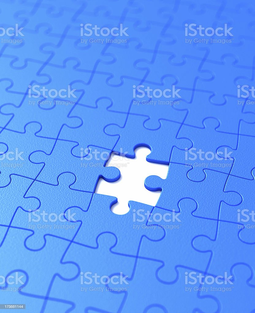 Missing puzzle royalty-free stock photo