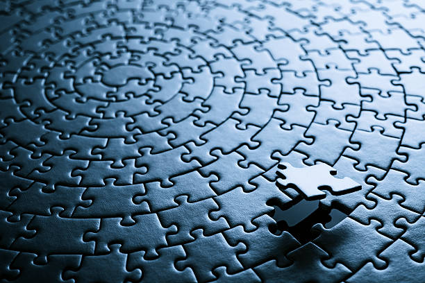 Missing puzzle piece - Background stock photo