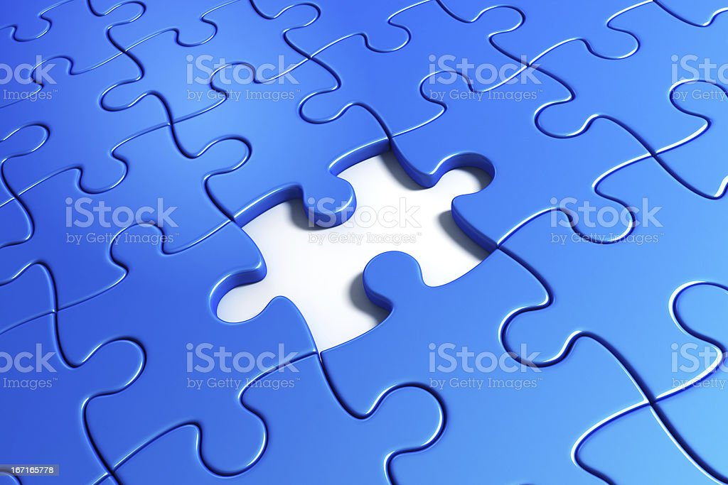 Missing puzzle piece royalty-free stock photo