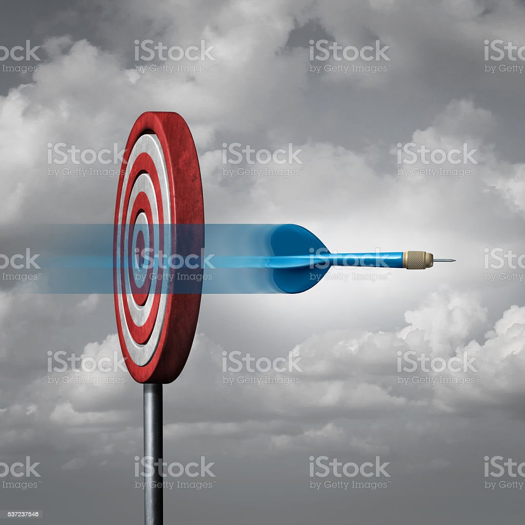Missing The Target stock photo
