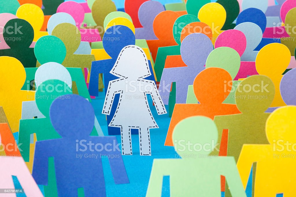 Missing woman stock photo