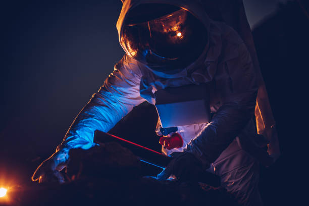 mission accomplished on new planet - astronaut stock pictures, royalty-free photos & images