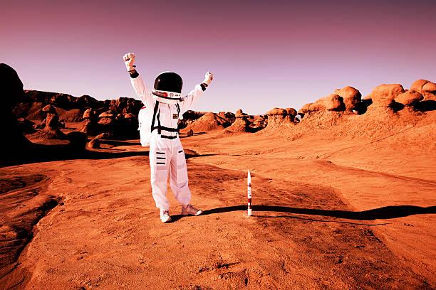 missione compiuta! - esplorazione spaziale foto e immagini stock