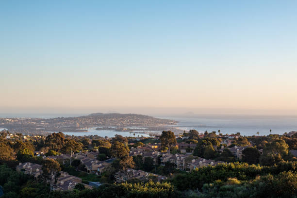 Mission Bay and Point Loma stock photo