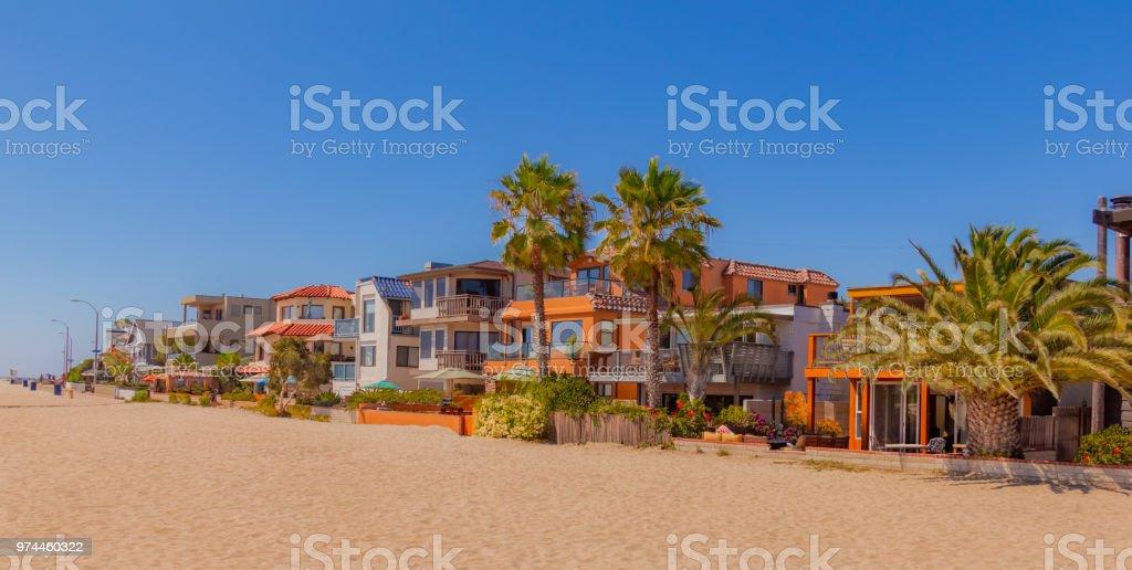 Mission Bay Strandhäuser auf Sand in San Diego, California(P) – Foto
