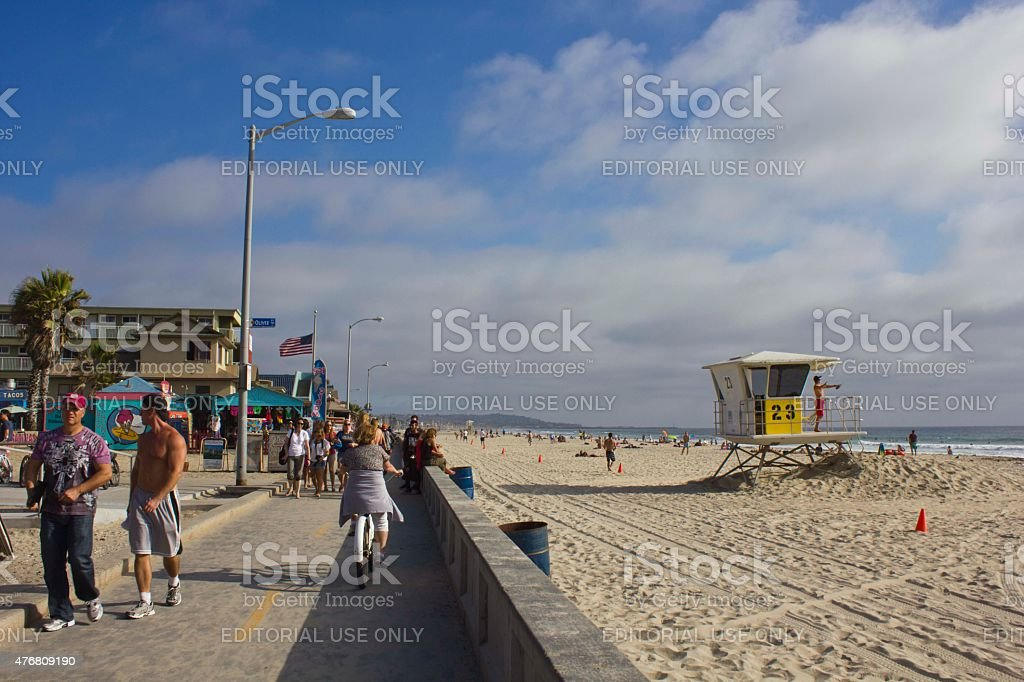 Mission Bay Beach in San Diego stock photo