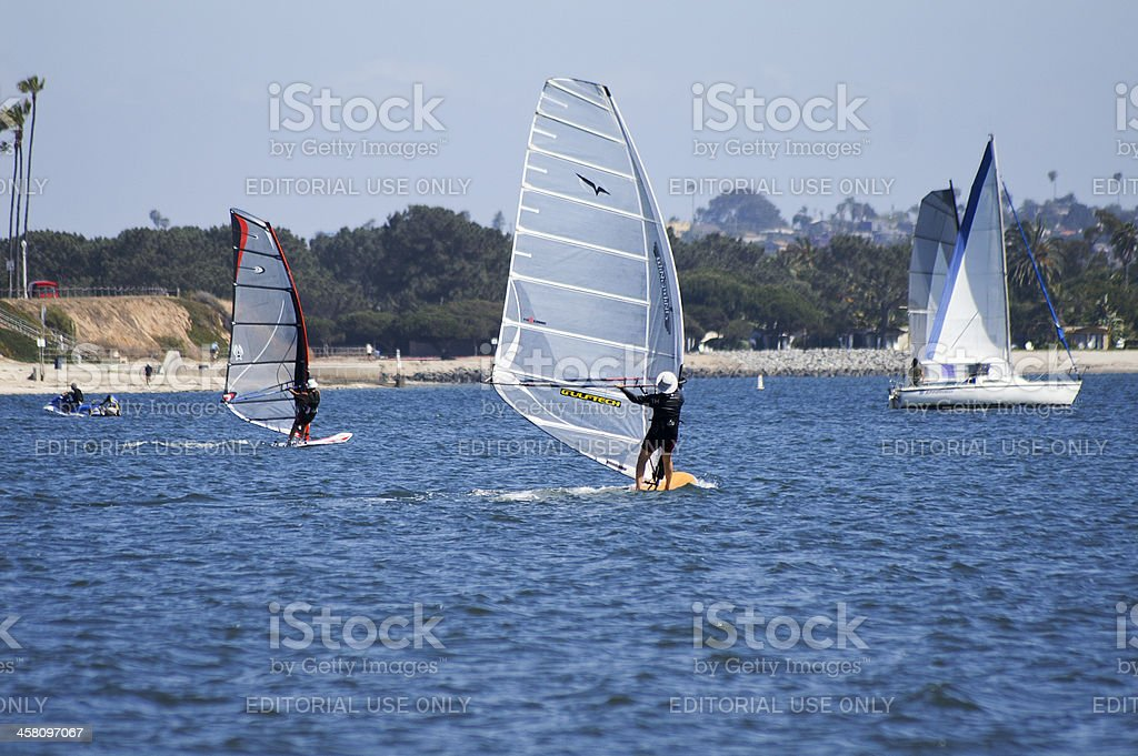 Mission Bay Sailing stock photo