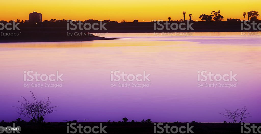Mission Bay San Diego Sunset, Southern California USA royalty-free stock photo