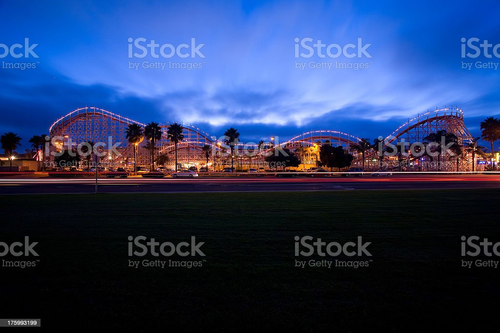 Mission Beach Roller Coaster royalty-free stock photo